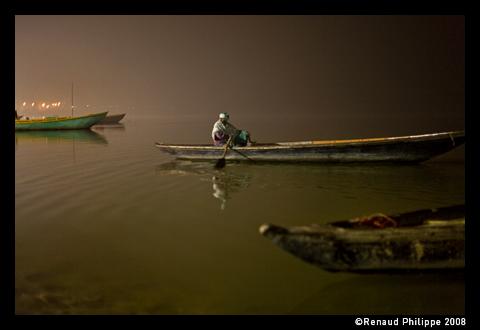 Morning time on the river Ganga. Varanasi. 2008.12